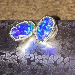 Kendra Scott Dark Blue Kyocera Opal Studs